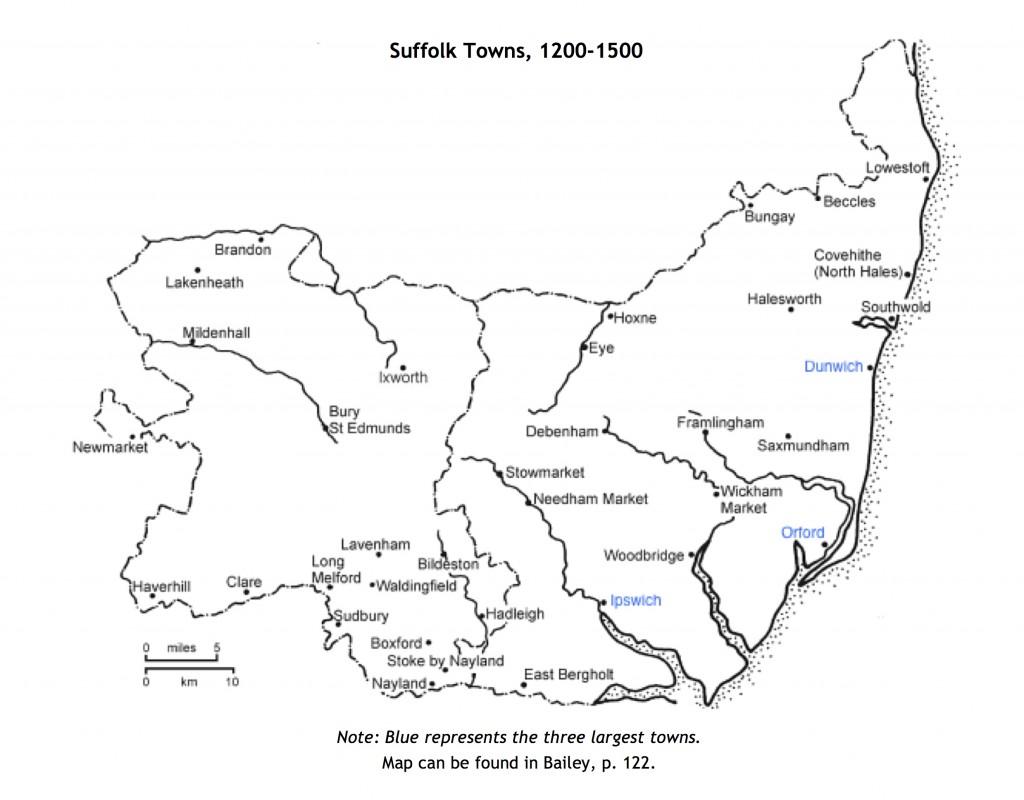 1- Suffolk Towns, 1200-1500