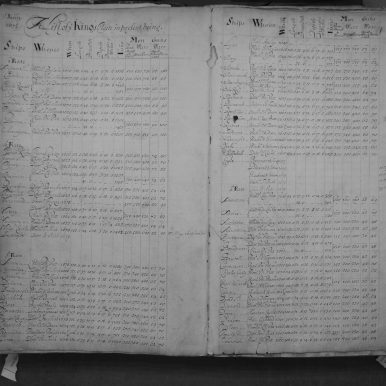 Black and White photo of a Fleet List report from ADM 8 volume 1