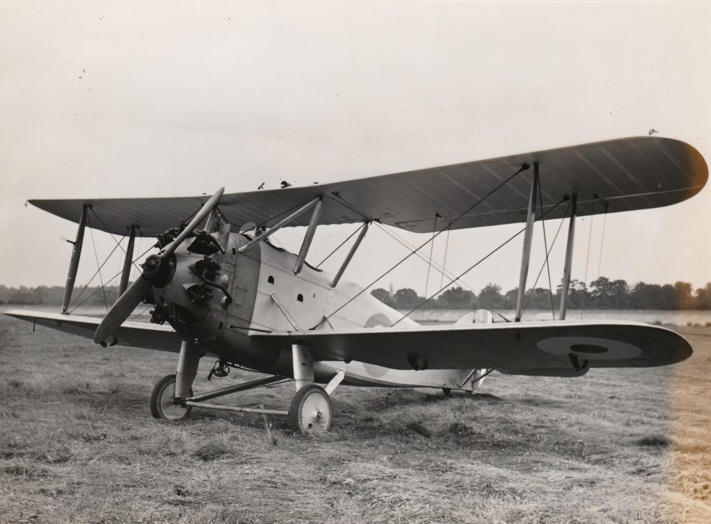 Hawker Hedgehog in its original form with simpler undercarriage and no centre-section fuel tank