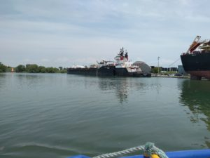 A Tugboat and Barge together in Oshawa