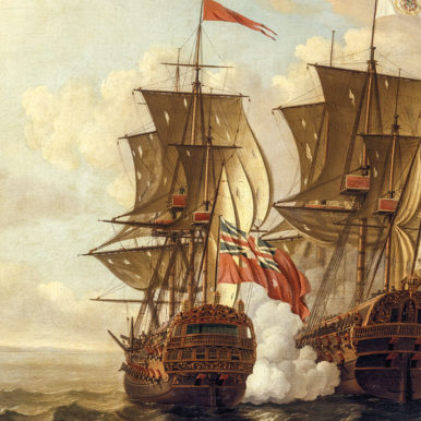 Spanish galleon at war
