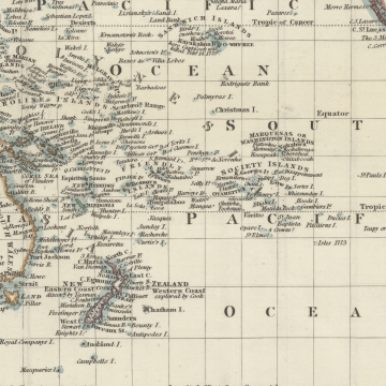 Detailed early 19th c. map of Austalia