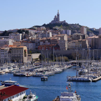 Waterfront in Marseille, France