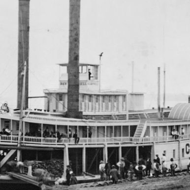 Steamboat in Western U.S., 19th century