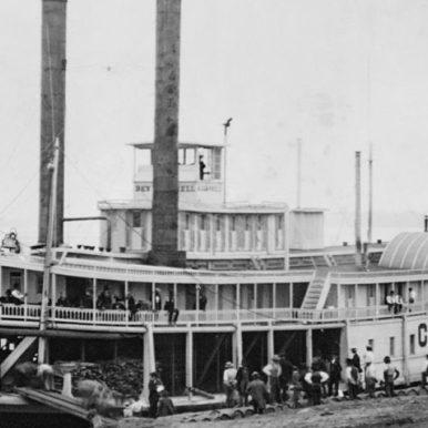 Steamboat in Western U.S., 19th century