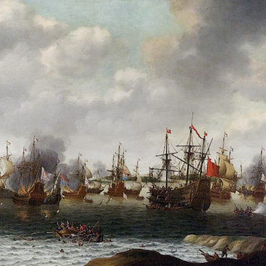 Painting of Dutch Attack on the Medway, June 1667