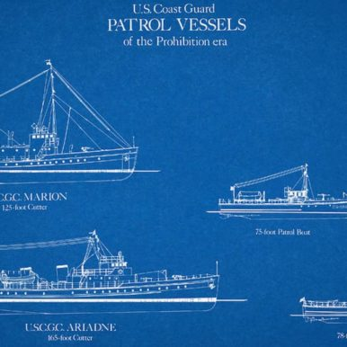 Images of types of U.S. Coast Guard vessels used during Prohibition