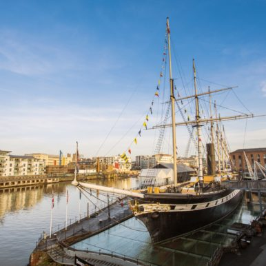 The SS Great Britain docked in Bristol harbor, 2017