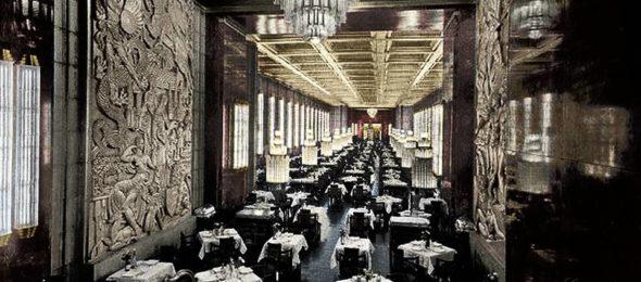 SS Normandie interior, grand salon, 1935