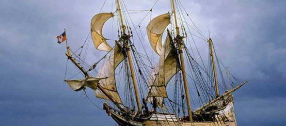 Replica of Dutch exploring ship the Duyfken