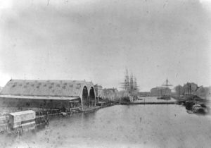 Sheds at the Dockyard in 1875