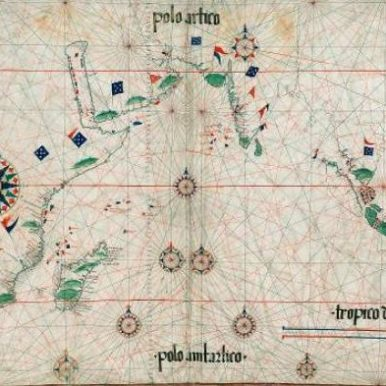 C. 1517 map of the world by Pedro Reinal