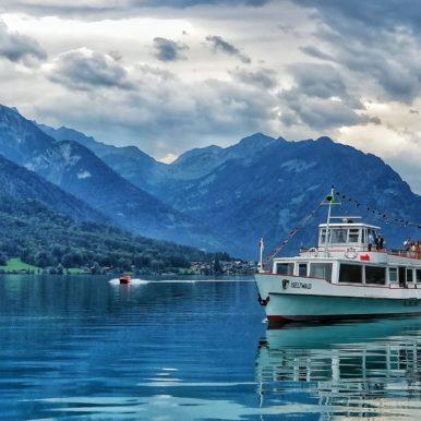 Ferry on Interlaken (lake), Switzerland