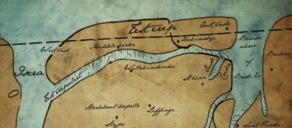 Medieval map of the lost island of Testerep